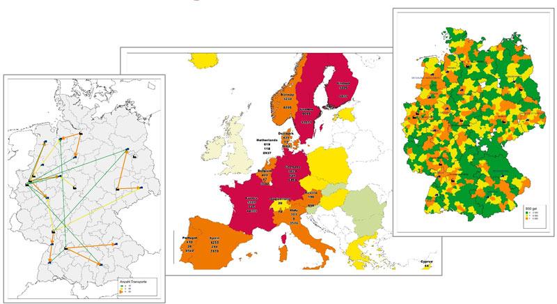 Visualisierung Logistik Volumen